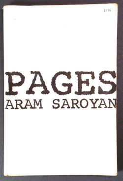 Pages-book cover-Aram Saroyan.jpg